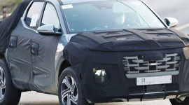 Bán tải Hyundai Santa Cruz lộ ảnh chạy thử mới