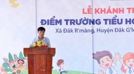 TC MOTOR khánh thành điểm trường tiểu học La Văn Cầu tỉnh Đăk Nông